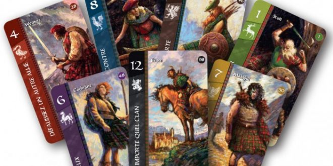 Cartes de jeu de Lords of Scotland