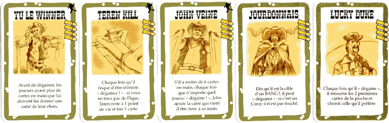 BANG! - Cartes Personnages