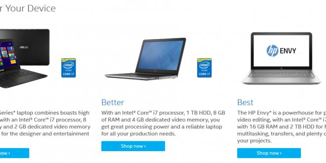 Guide d'achat de la rentrée Intel