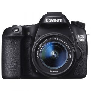 Canon EOS 70D DSLR Camera avec lentille 18-55mm IS STM