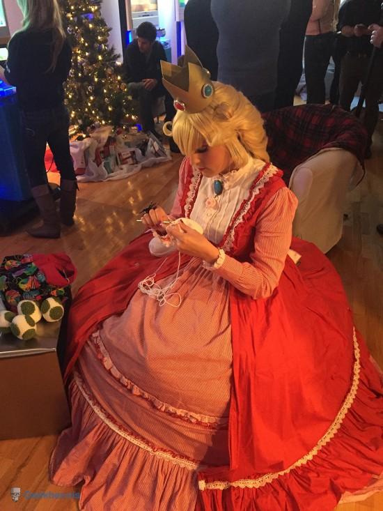 Princess Peach et son tricot