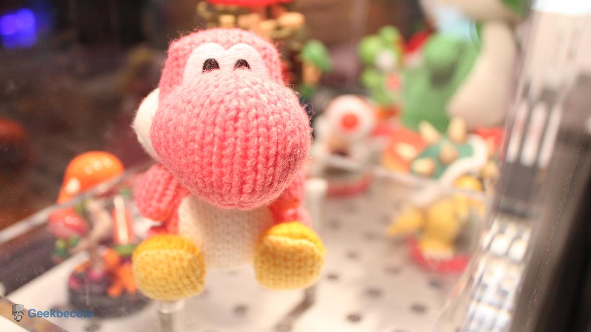 Un petit Yoshi rose en tricot