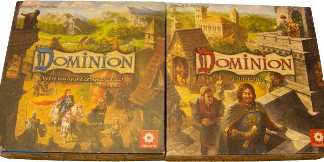 Dominion - boitiers des jeux de base