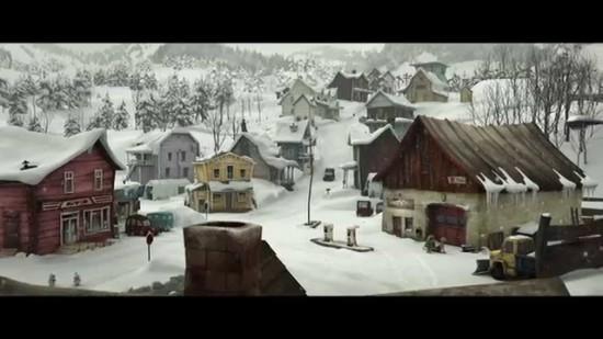 Le village de la Guerre des Tuques 3D