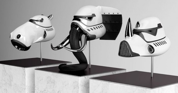 Casques de Stormtrooper d'animal blanc!