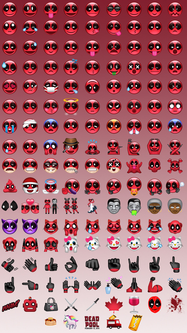 Emojis Deadpool