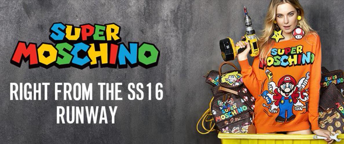 Super Moschino - bannière Mario Bros