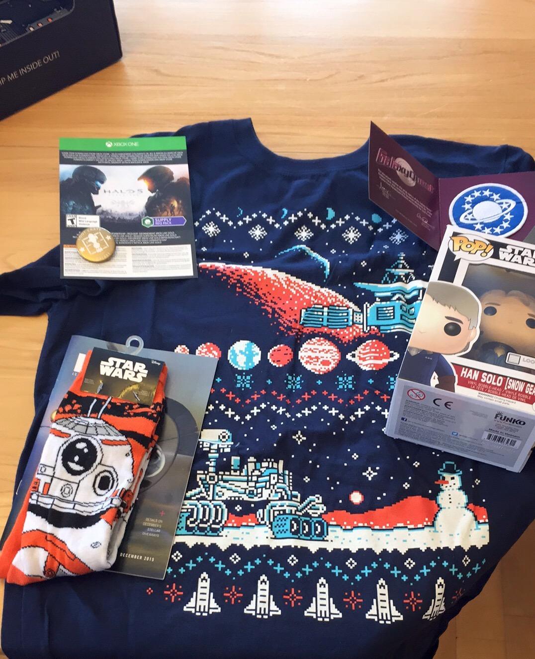 Contenu | unboxing Loot Crate décembre 2015