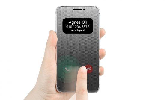 Appel entrant - LG G5 Quick Cover