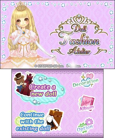 Doll Fashion Atelier (3DS) | Nintendo eShop 7 avril 2016