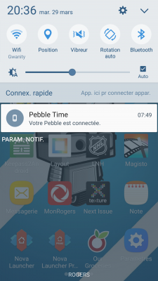 Zone des notifications - Samsung Galaxy S7
