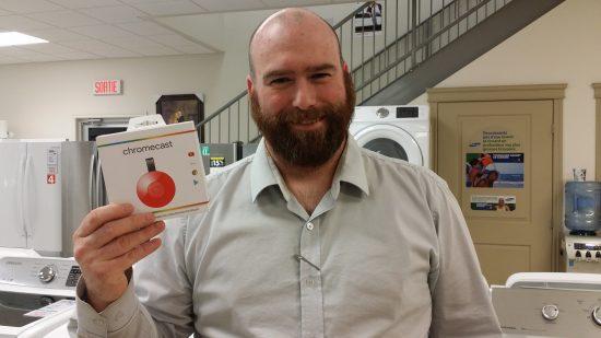 Le gagnant du concours de la Chromecast : Daniel Rousseau
