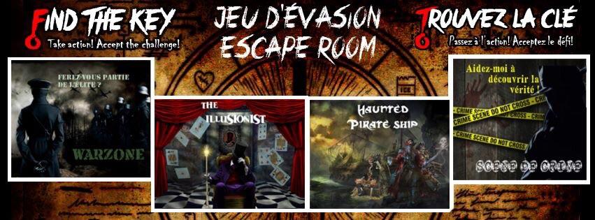 Source: Page Facebook Find the key | Enquêtez dans l'une des 8 salles de jeux d'évasions à Montréal