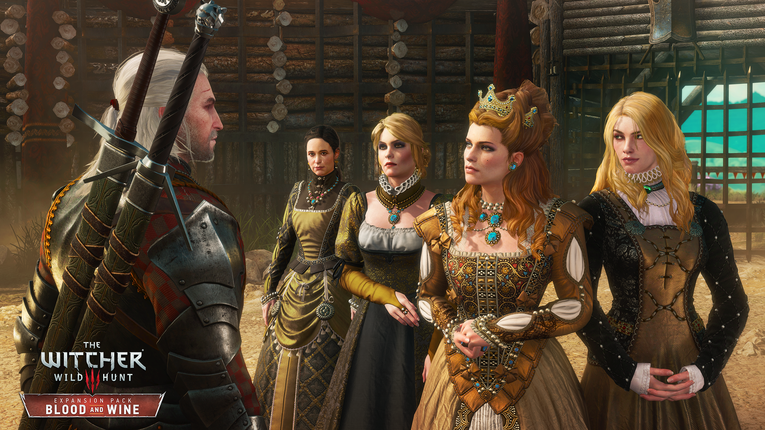 Geralt fait la rencontre de la Duchesse de Toussaint, un des nouveaux personnages introduits dans Blood and Wine | The Witcher 3 Blood and Wine