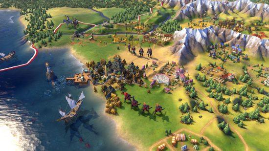 Les unités terrestres et navales semblent très détaillées | Civilization IV