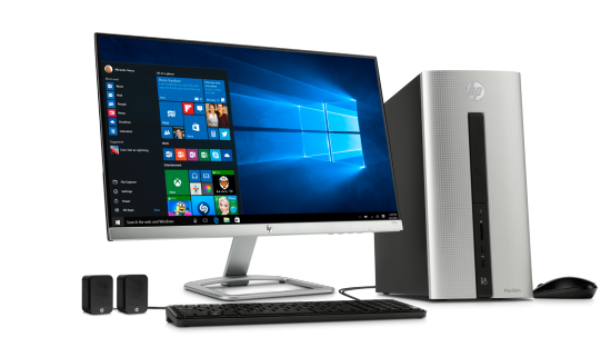 "HP Pavilion Desktop PC - Natural Silver | 23"" Display"