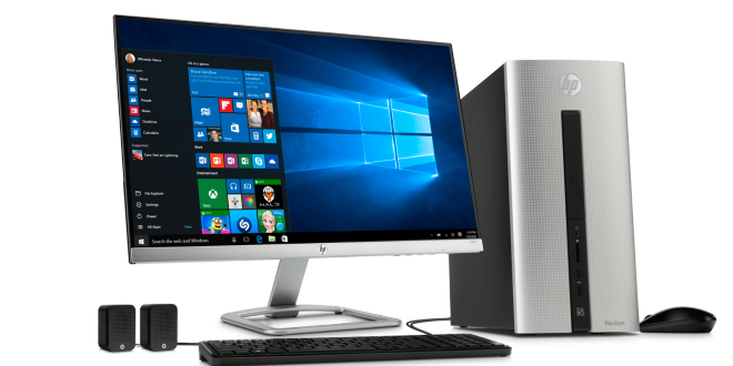 "HP Pavilion Desktop PC - Natural Silver | 23"" Display"