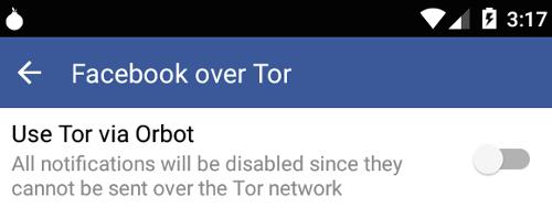 Facebook Tor | Application Facebook sur Android