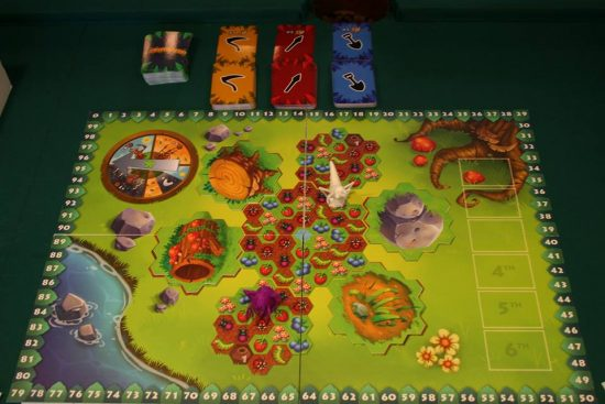 Le plateau du jeu Fourmidable