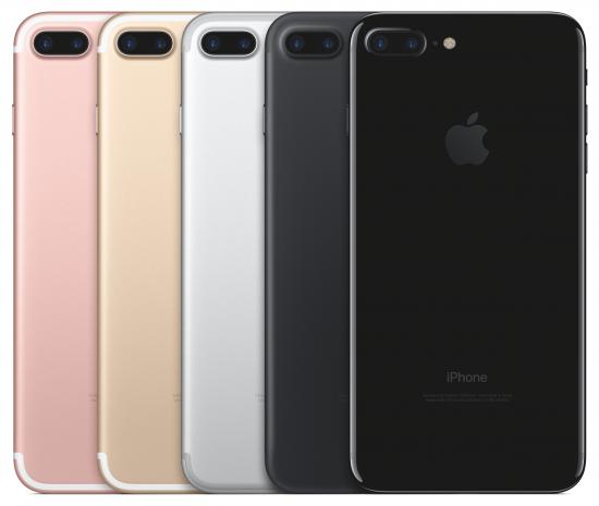 iPhone 7 Plus en couleurs