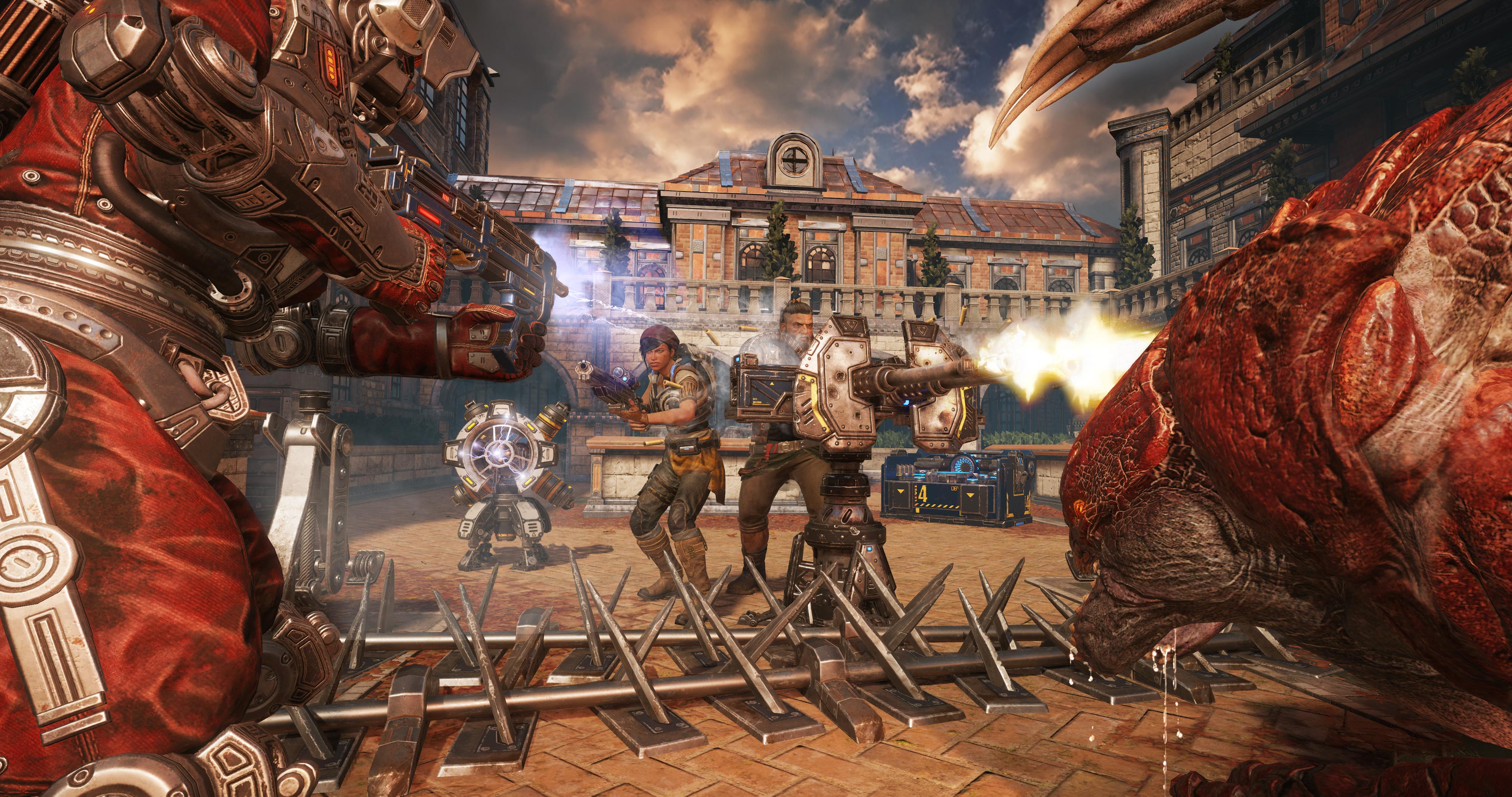 Le très populaire mode Horde revient avec des nouveautés comme des fortifications et des classes de personnage   Gears of War 4