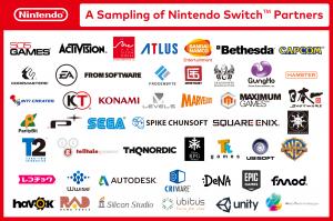Les partenaires de la Nintendo Switch