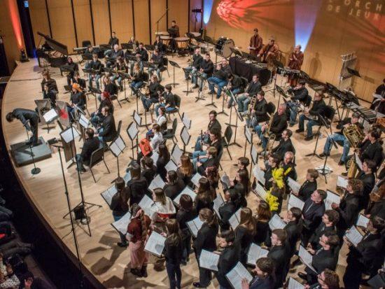 L'Orchestre de Jeux Vidéo lors de son concert Final Fantasy vs Star Wars, en avril 2016.