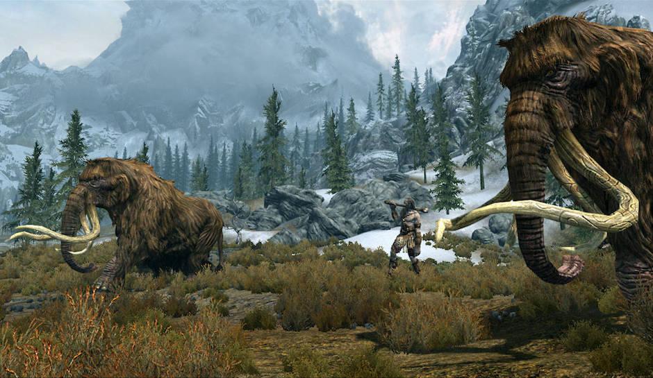 L'environnement du jeu est toujours aussi impressionnant, tout comme certaines bêtes qu'on y rencontre | Skyrim Special Edition