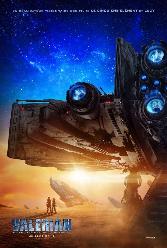 Affiche du film Valérian et la cité des mille planètes. Crédit: Les Films Séville
