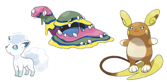 Formes Alola - Pokémon Sun et Moon