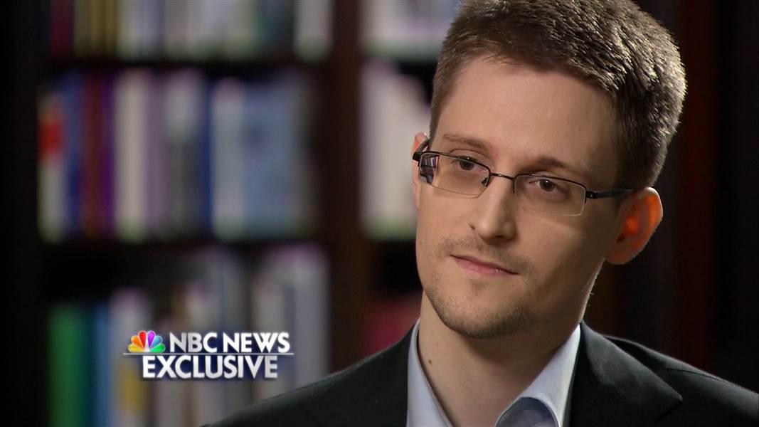 Edward Snowden en 2014, lors d'une entrevue exclusive avec NBC News