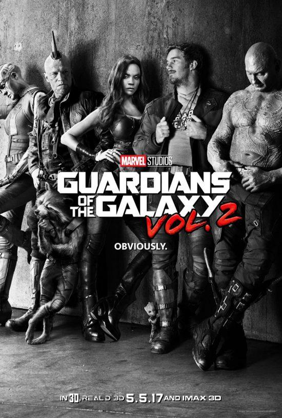 Première affiche pour Guardian of the Galaxy Vol. 2. Remarquez Baby Groot aux pieds de Star Lord.