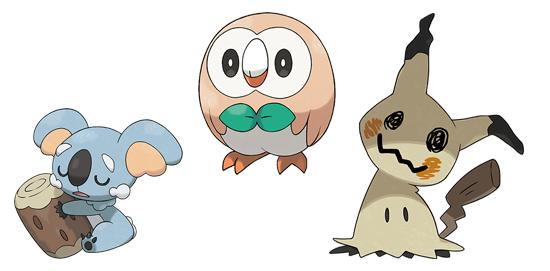Nouveaux Pokémons - Pokémon Sun et Moon
