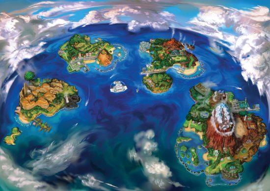 Carte de la région Aloha | Pokémon Sun