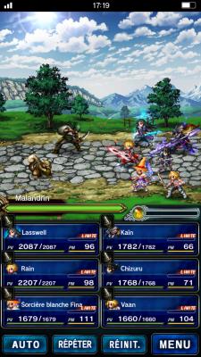 L'allure des personnages changent quand ils deviennent plus forts.   Final Fantasy Brave Exvius