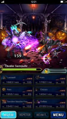 Lors d'un événement spécial pour Halloween.   Final Fantasy Brave Exvius