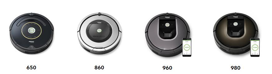 Roomba - Modèles variés