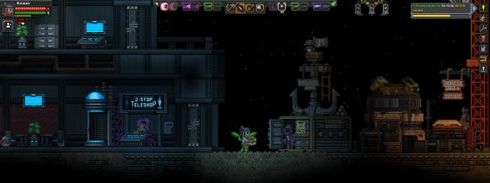 L'« Outpost ». Eh oui, je suis moitié plante, moitié maison. | Starbound