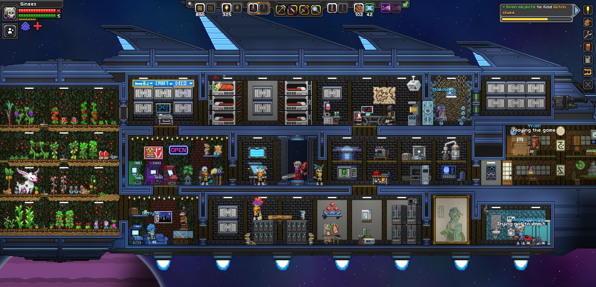 Mon vaisseau Hylotl amélioré au maximum ! | Starbound