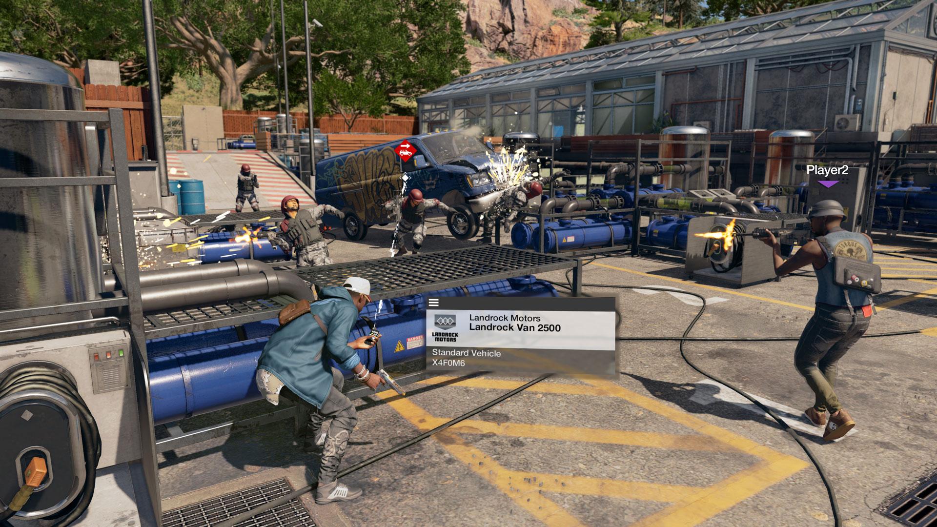 Marcus peut même contrôler des véhicules à distance, parfait pour prendre des ennemis par surprise!