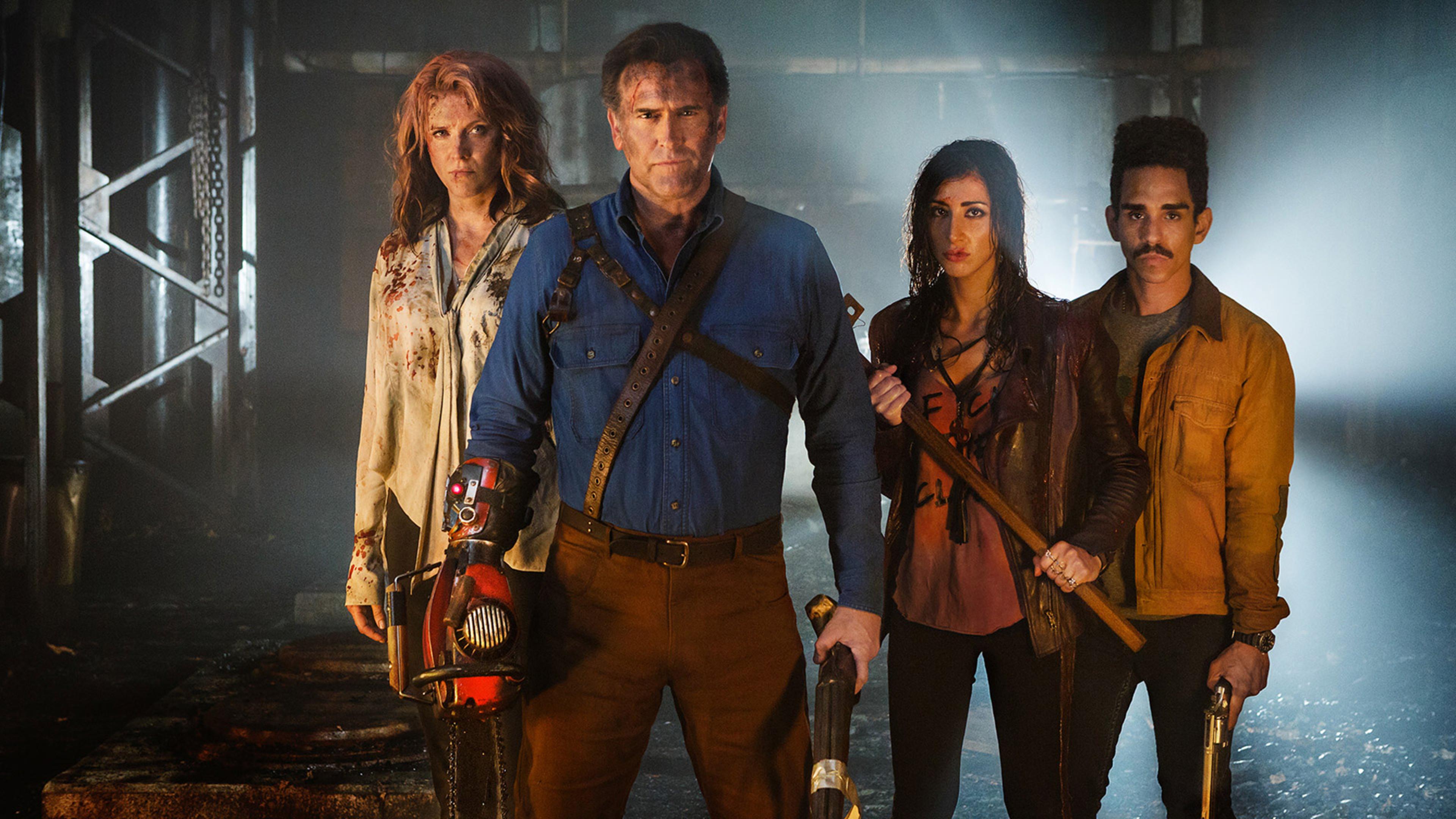 Ruby, Ash, Kelly et Pablo, face au danger. | Ash vs Evil Dead