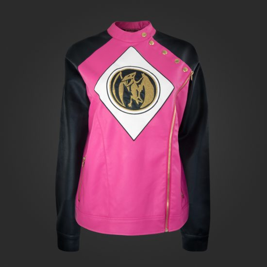 La veste en cuir Pink Power Ranger de Welovefine