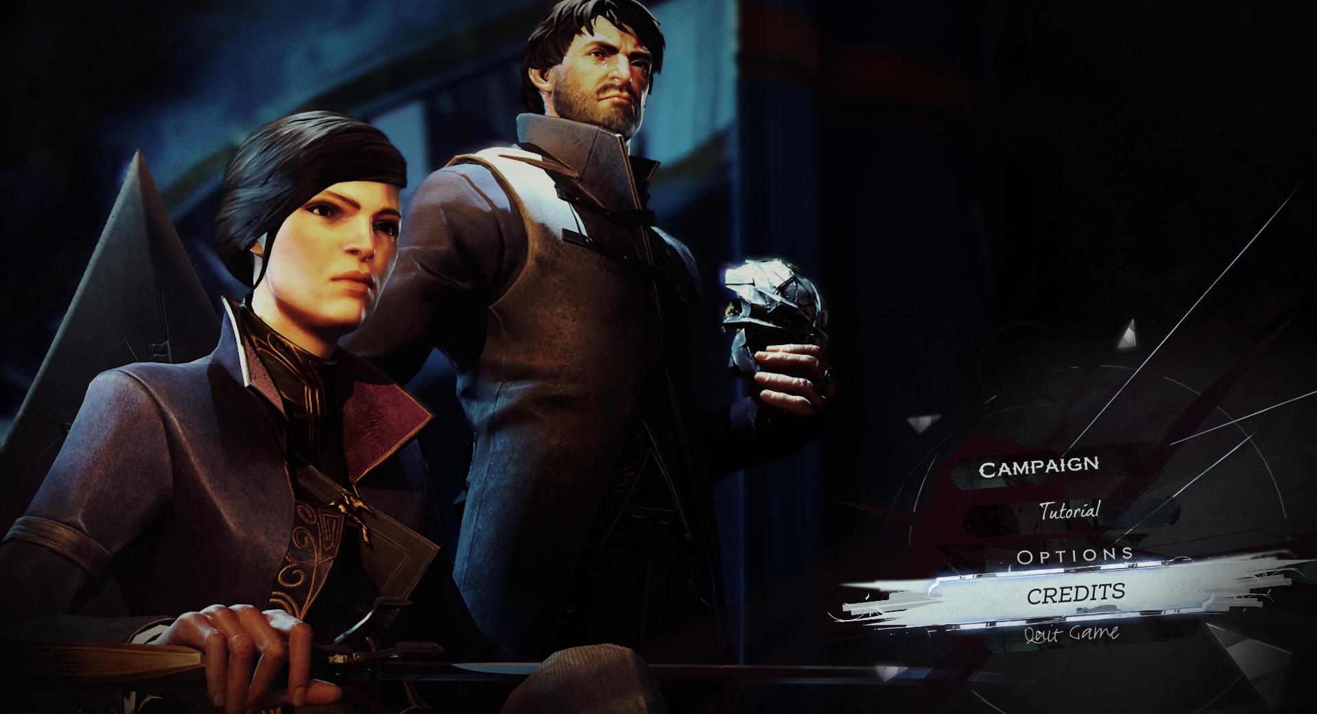 L'écran du menu principal. | Dishonored 2