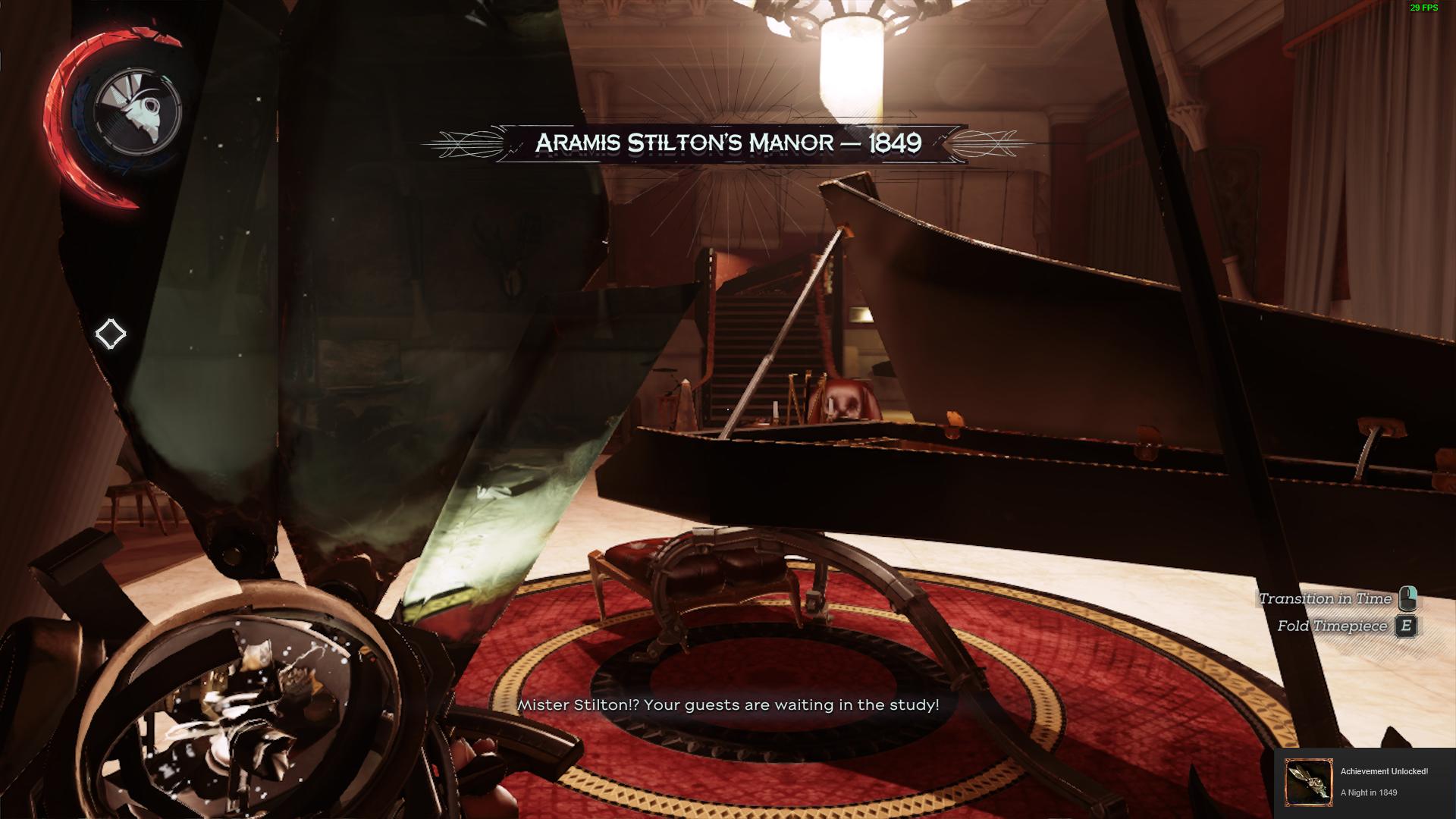 Le manoir d'Aramis Stilton au passé | Dishonored 2