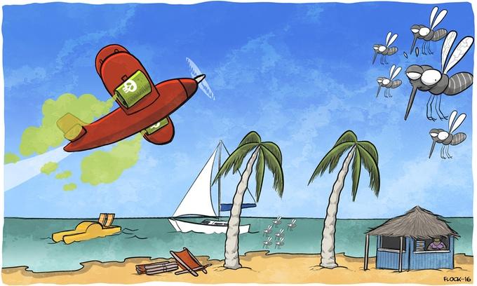 Concept du mini-jeu d'insecticide - Beach Bum Games