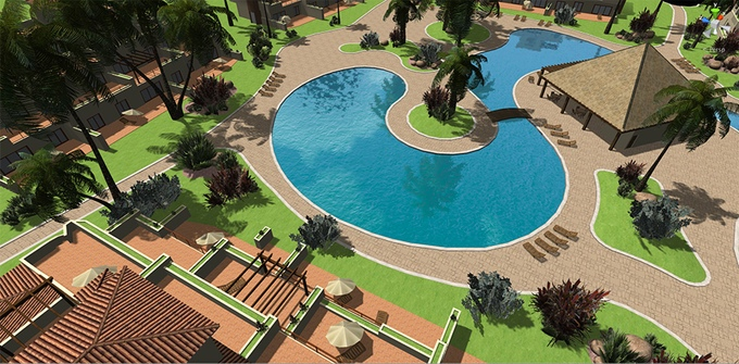 Vue d'ensemble d'un site - Beach Bum Games (Pre-Alpha)