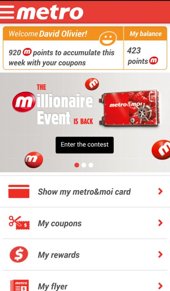 Application mobile Metro