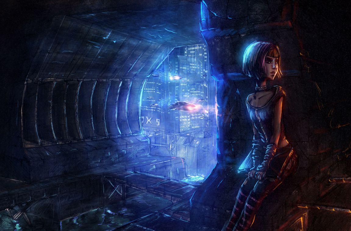 Ama's Lullaby : Un jeu d'aventure cyberpunk sur Kickstarter