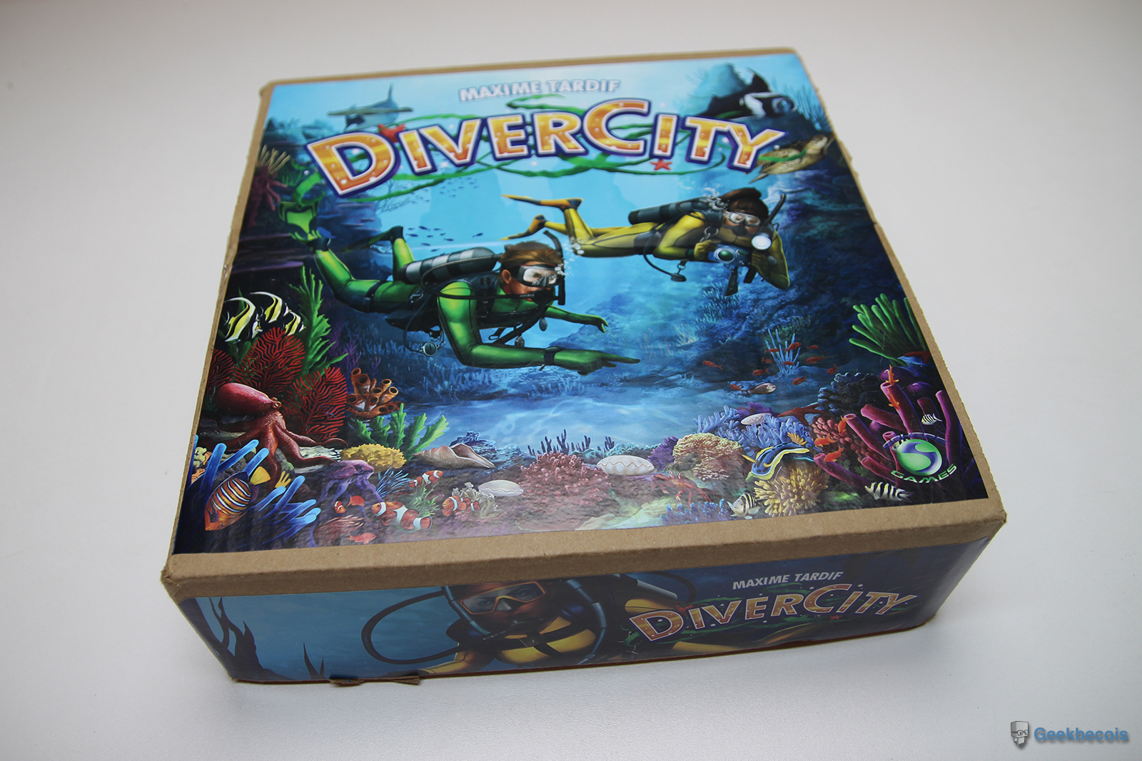 Boite du jeu DiverCity (en version prototype)