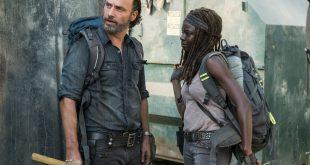 Rick Grimes (Andrew Lincoln), Michonne(Danai Gurira) - The Walking Dead Saison 7 Épisode 12 - Photo: Gene Page/AMC